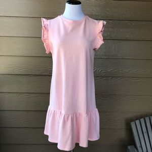 •K by Kinnucan's• Pink Short Sleeve Raw Edge DressBoutique for sale